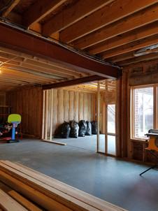 Backyard Entrance Construction Framing