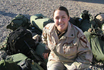 Amanda in Baghdad, Iraq, March 2005