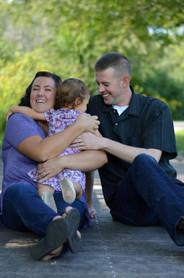Amanda with her husband, Dan, and daughter, Violet