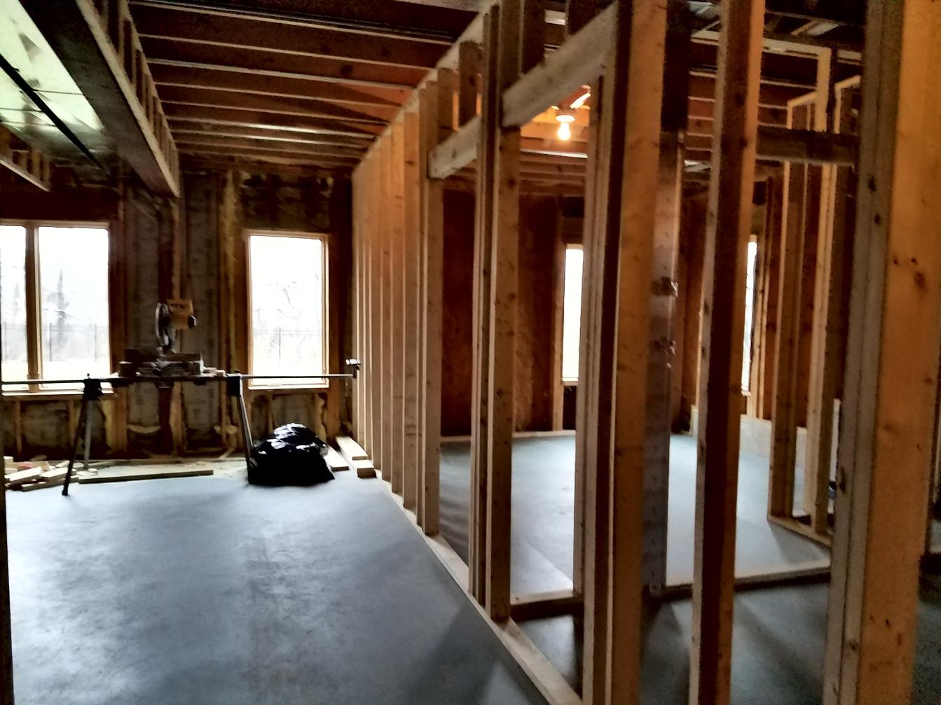 Bedroom Construction Framing