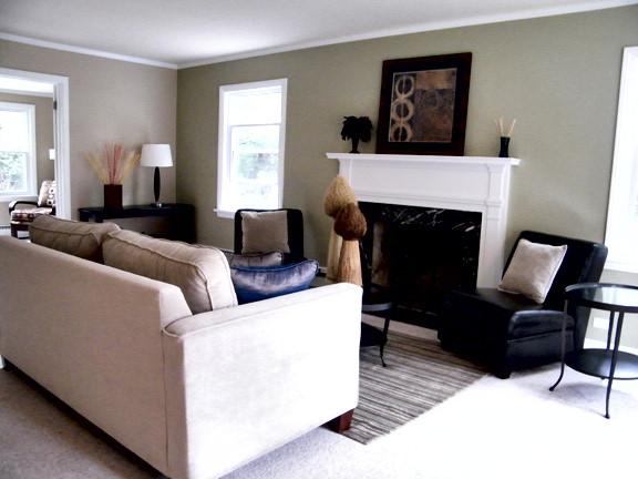 Wilmette Living Room After Staging