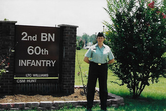 Amanda the day she graduated basic training, August 2003