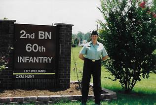 Amanda the day she graduated basic training, August 2003