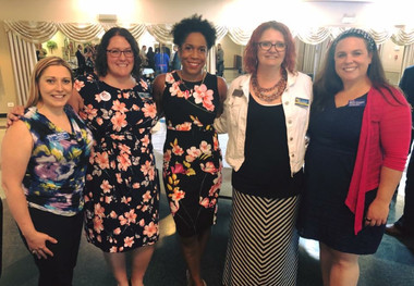 Will County Board candidates Rachel Ventura, Amanda, Meta Mueller, and Mimi Cowan with Vice Gubernatorial Candidate Juliana Stratton