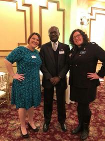 Nicki Serbin, State Central Committeeman Al Riley and Amanda