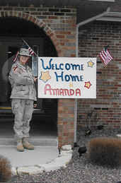 Amanda the day she returned from Iraq March 2005