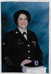 Amanda in her dress uniform 2003