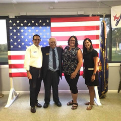 Candidate for the 37th State Rep district Matt Hunt, Judge David Garcia, Amanda, and County Clerk Candidate Lauren Staley Ferry