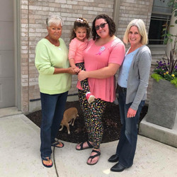 Amanda with her Grandma, Daughter, and Mom on Mother's Day