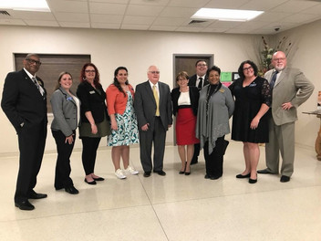 Current Will County Board members and candidates Herbert Brooks, Rachel Ventura, Meta Mueller, Mimi Cowan, County Executive larry Walsh Sr., Laurie Summers, Tyler Marcum, Denise Winfrey, Amanda, and Don Moran