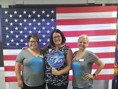 FTDO Chair Emily Biegel, Amanda, and FTDO Vice Chair Michelle Domecki