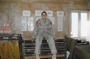 Amanda in Baghdad, Iraq February 2005