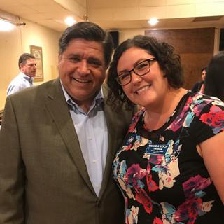 Gubernatorial candidate JB Pritzker with Amanda