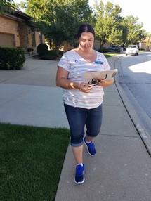 Amanda on the campaign trail