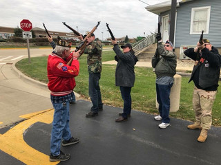 Amanda with her VFW rifle team on Veterans Day, November 2017
