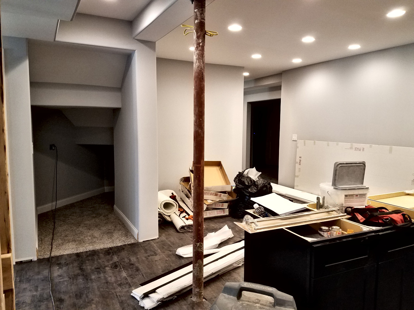 Kitchen Eating Nook Mid-Construction