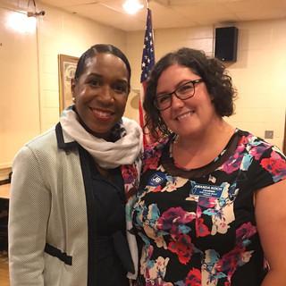 Vice Gubernatorial candidate Juliana Stratton with Amanda
