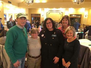 Amanda with supporters Gary Gunkel, Peg Hamilton, Joanne Gunkel, and LWDO Chair Sue Myers