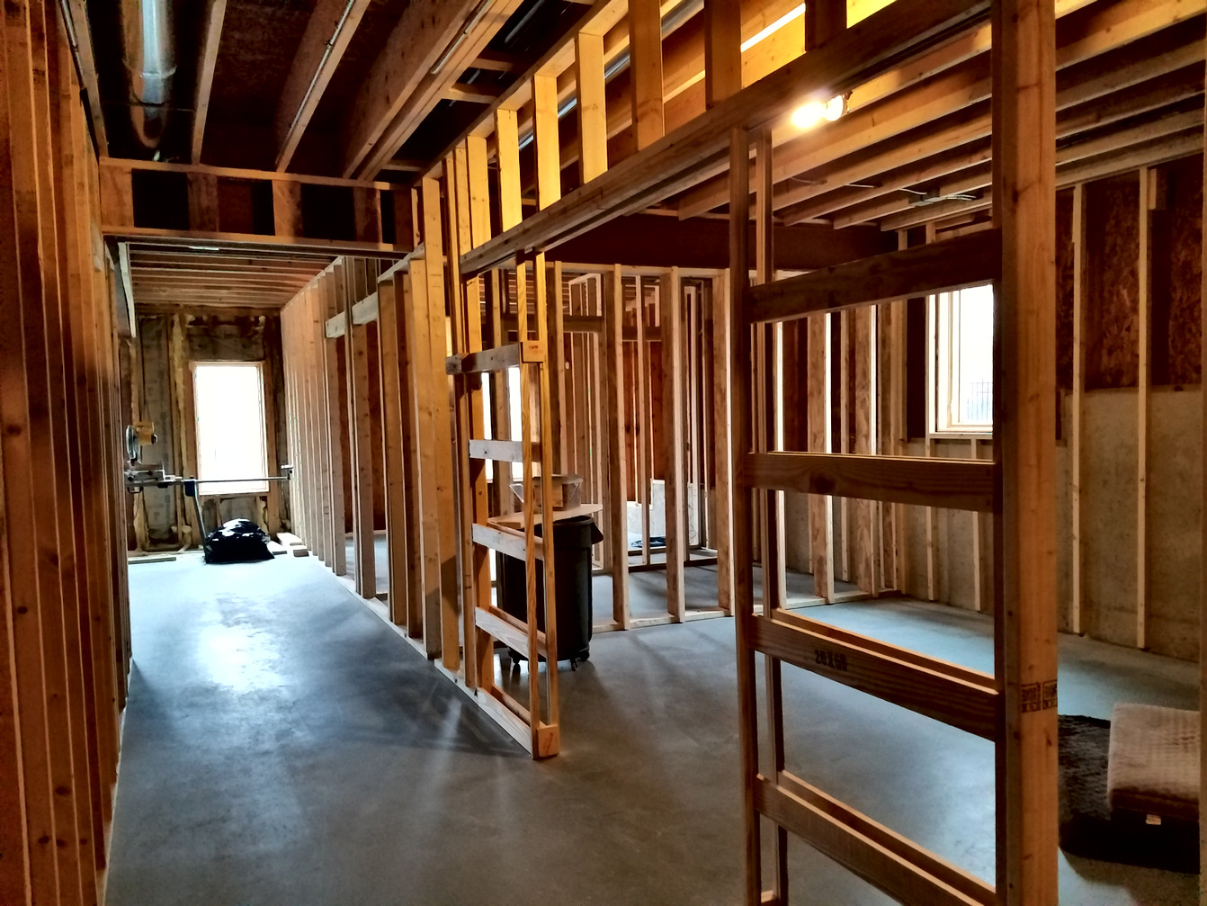 Exercise Room Construction Framing