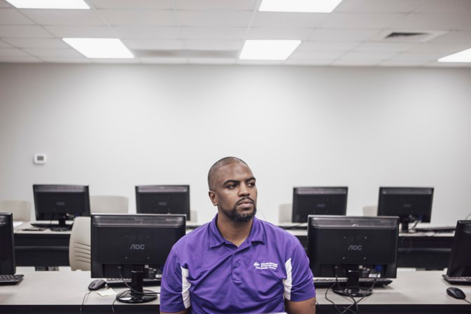Terrence Davenport at the Arkansas Adult Learning Resource Center (Andrea Morales)