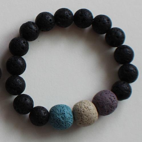 Adult Large Lava Bead Bracelet