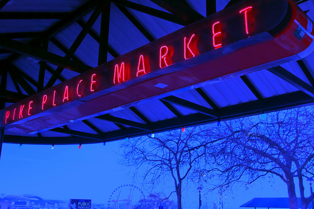 PIke Place Market Awning _ Seattle,