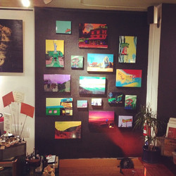 Just hung my artwork for the holiday show at #Twilightgallery in west Seattle