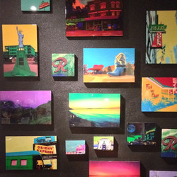 #Twilightgallery new pieces and some old favorites hung last night for black wall Friday sale_)