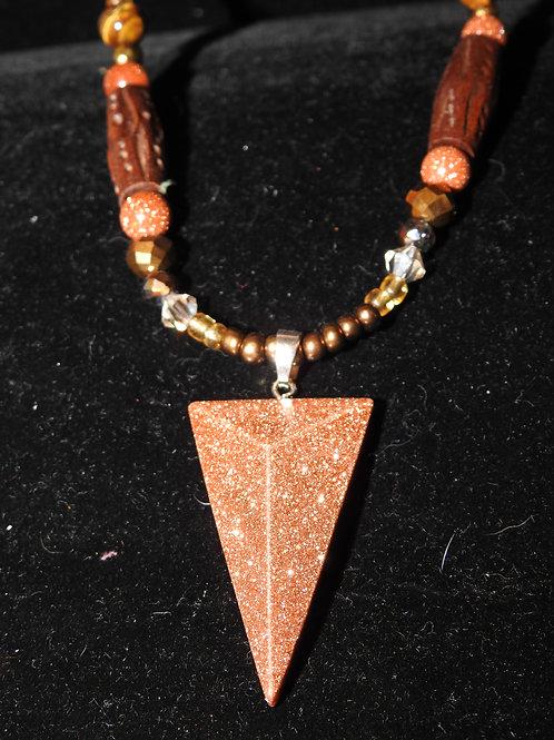 Golden Arrow Double Necklace