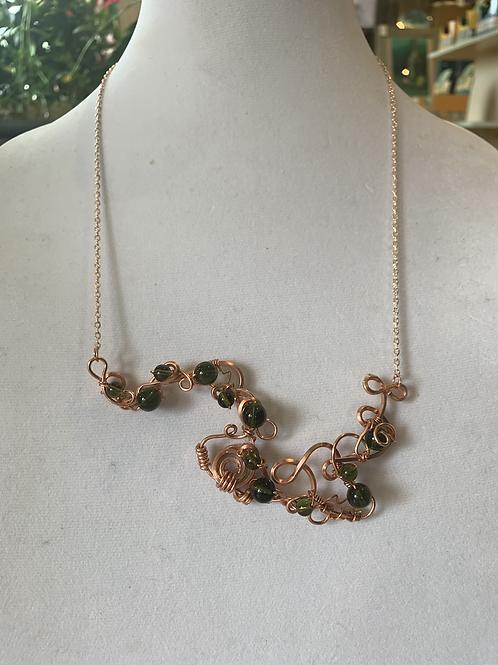 Moldavite Copper Elegance