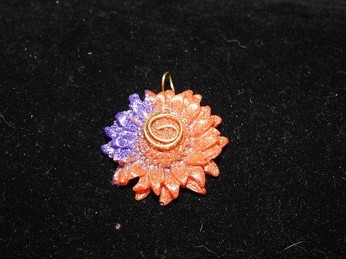 Purple orange glitter Sunflower