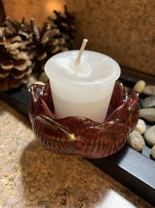 Marble Rose Candle Holder