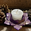 Thumbnail: Purple marble lotus candle holder