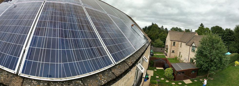 Solar panels, solar panel cleaning