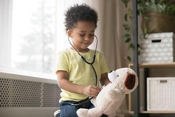 Cute little toddler african american boy