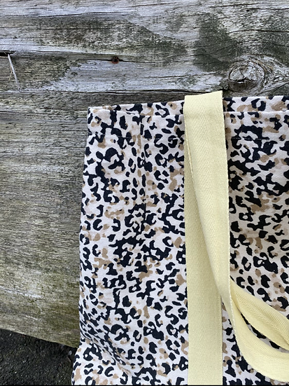 Leopard print canvas tote