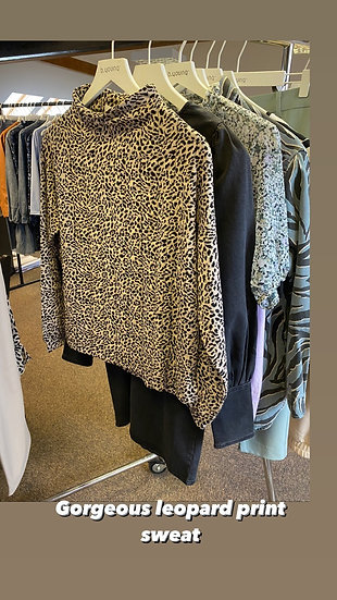 BYOUNG quilted leopard sweatshirt