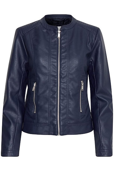 BYOUNG navy pleather jacket