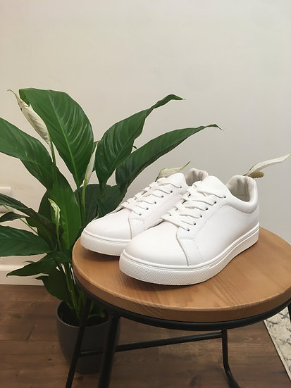 Classic white trainers