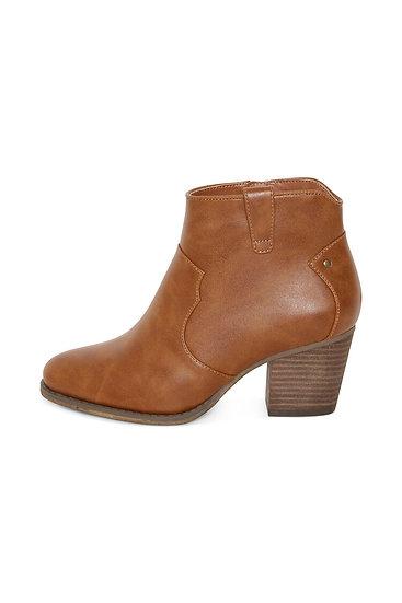 Ichi pomona cognac boots