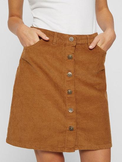 Pieces Benedicte Cord Mini Skirt