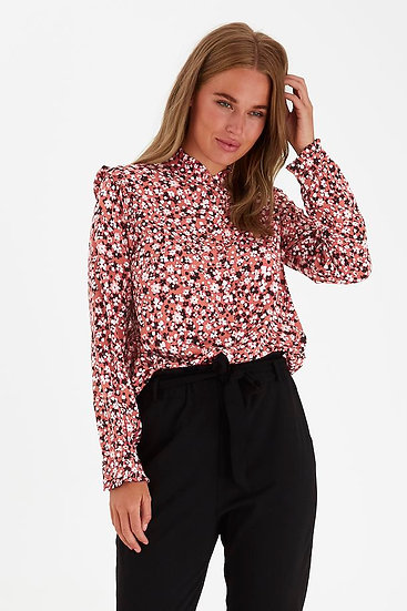 BYOUNG pink floral blouse