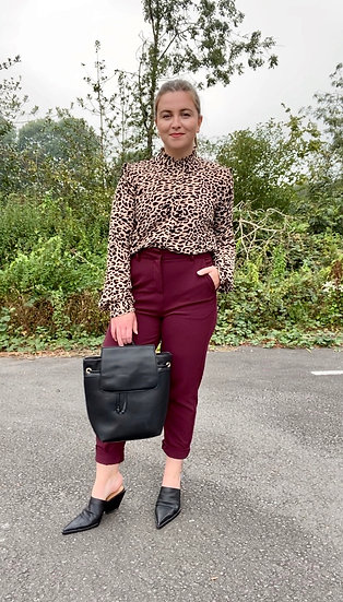 BYOUNG leopard blouse