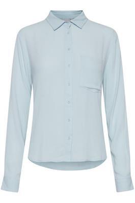 Ichi blue crinkle effect shirt