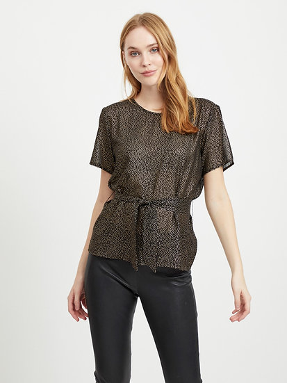 Object top with tie front