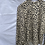Thumbnail: Leopard blouse with frill neck detail