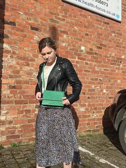 Ichi Leopard Midi Skirt