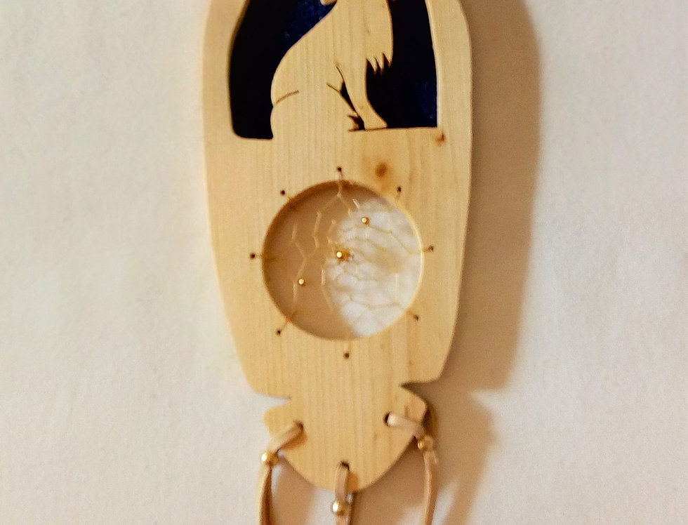 'Soaring Eagle ' WolfWooden Dream Catcher Plaque