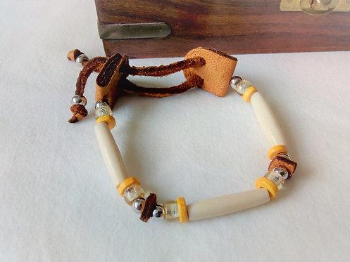 Soaring Eagle Bone 1 Row Wristband