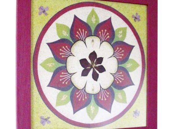 Mandala Violet vert